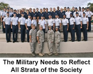The Military Needs to Reflect All Strata of Society