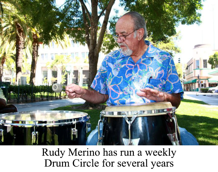 Rudy Merino has run a Drum Circle for several years