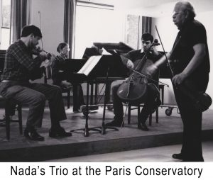 Nada's Trio at the Paris Conservatory