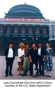 Judy Carmichael in China Courtesy of the U.S. State Department 1992